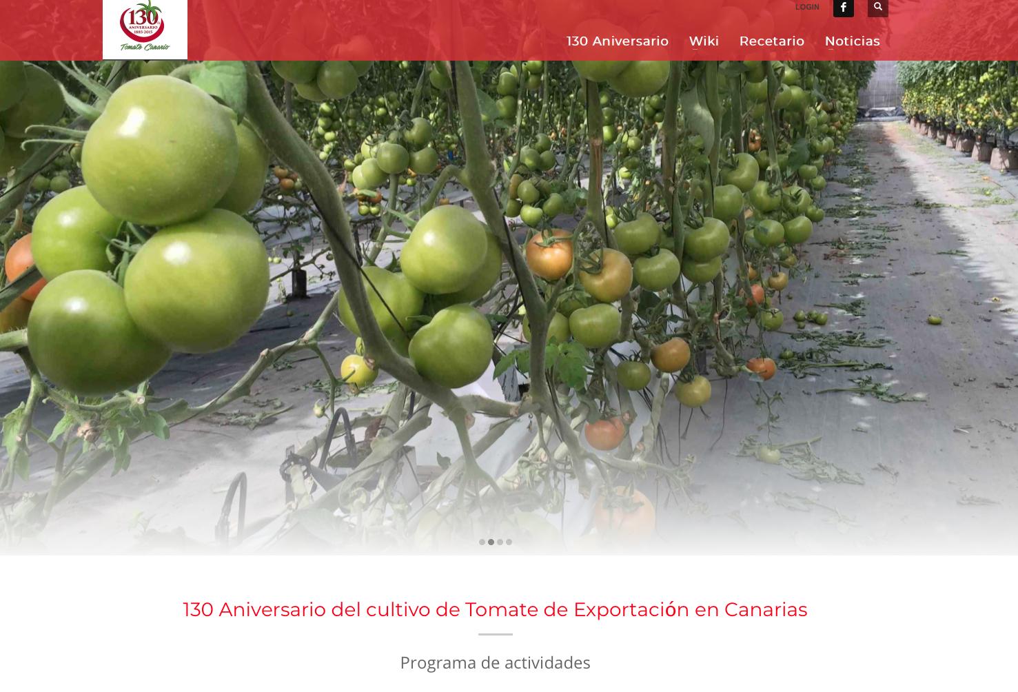 web tomate canario